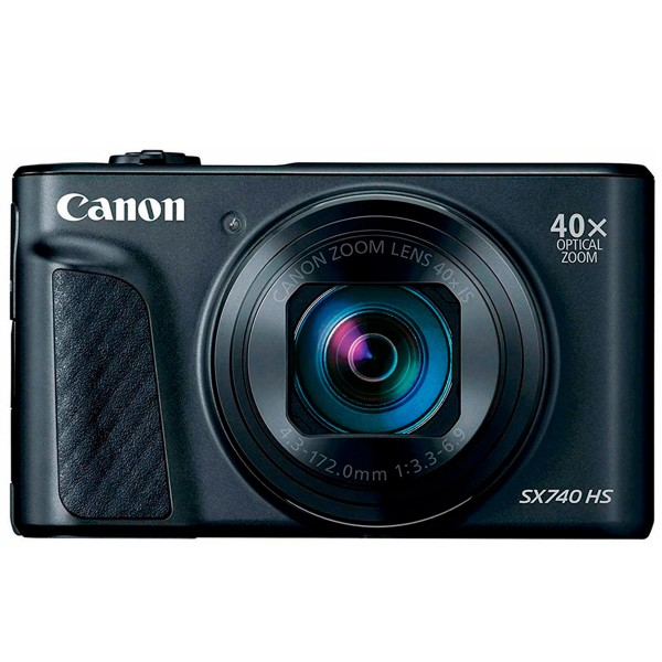 Canon powershot sx740hs negro cámara de fotos digital compacta 20.3mp uhd zoom óptico 40x wifi bluetooth